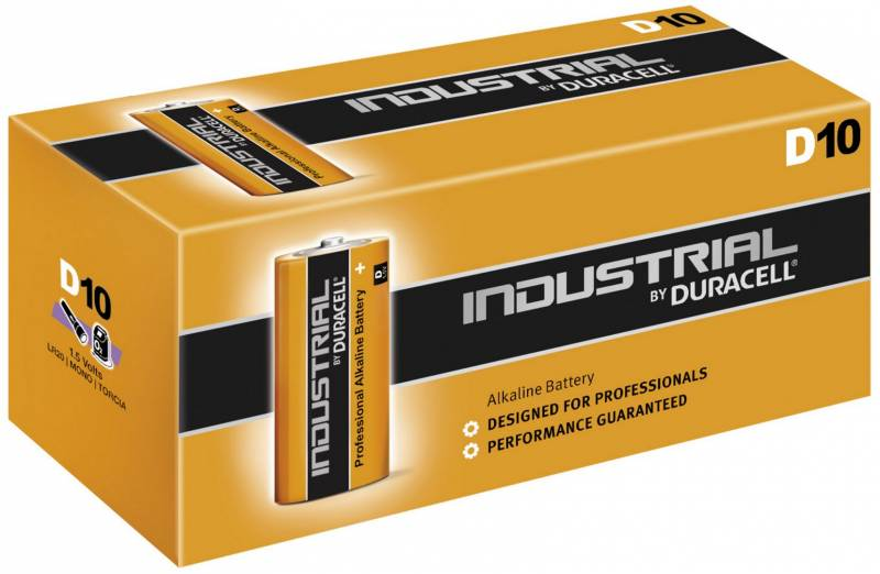 Image of   Batteri Duracell Industrial D 10stk/pak