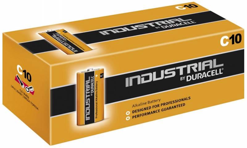 Image of   Batteri Duracell Industrial C 10stk/pak