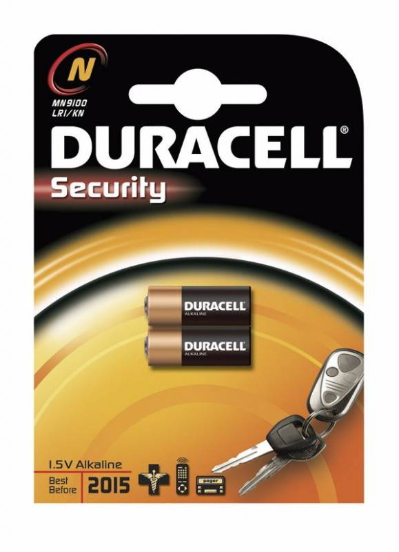 Image of   Batteri Duracell Security N/MN9100 2stk/pak