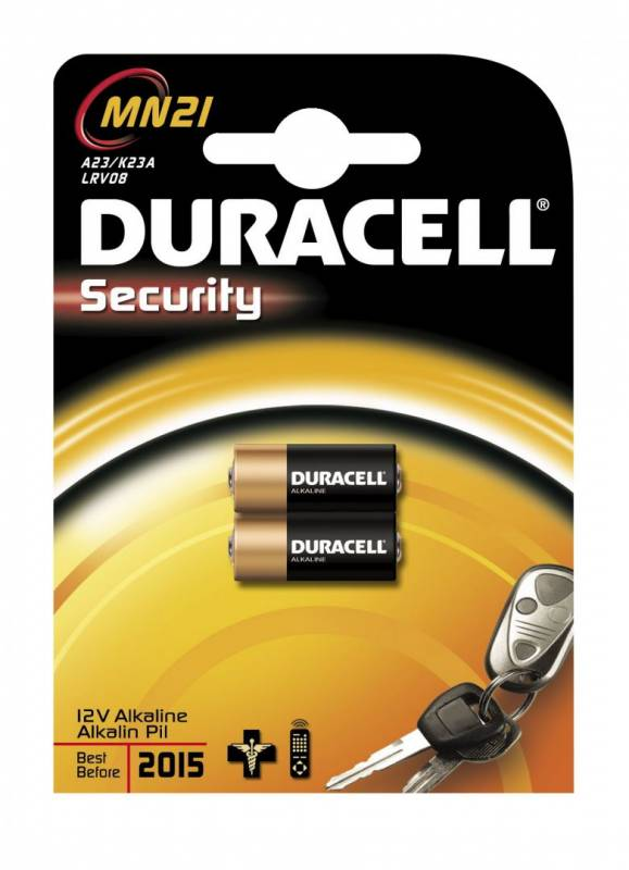 Image of   Batteri Duracell Security MN21 2stk/pak