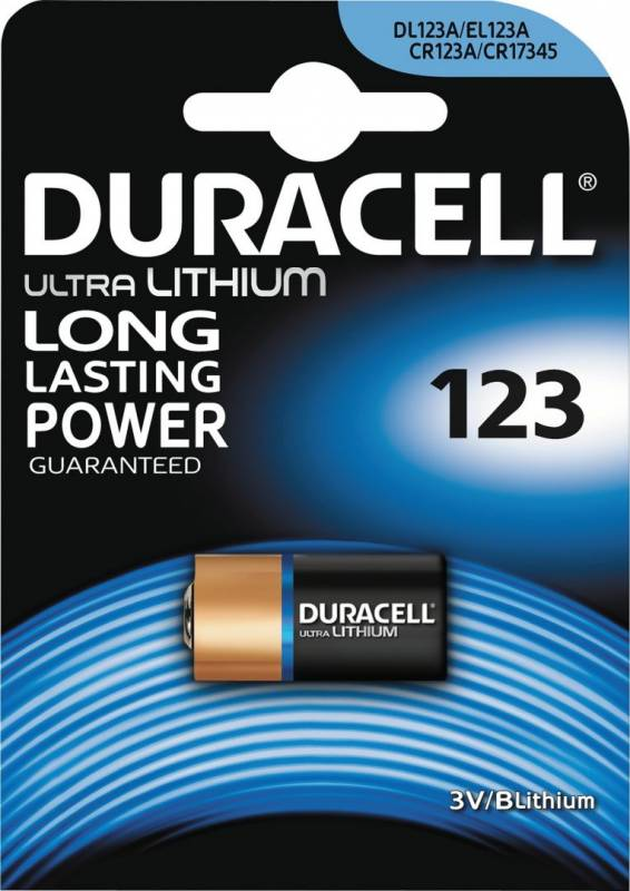 Image of   Batteri Duracell Ultra Photo 123 1stk/pak