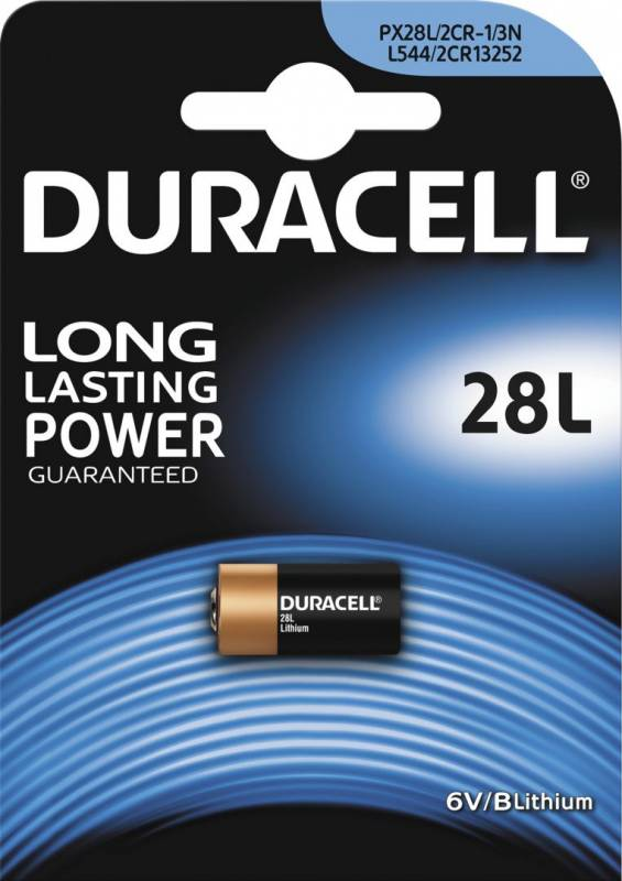 Image of   Batteri Duracell Photo 28L 6V Lithium 1stk/pak