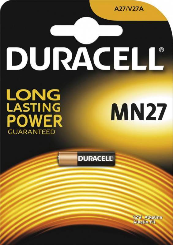 Image of   Batteri Duracell Security MN27 12V 1stk/pak