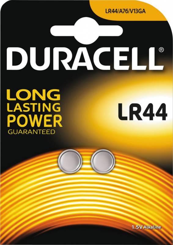 Image of   Batteri Duracell Electronics LR44 2stk/pak