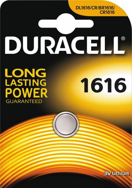 Image of   Batteri Duracell Electronics 1616 1stk/pak