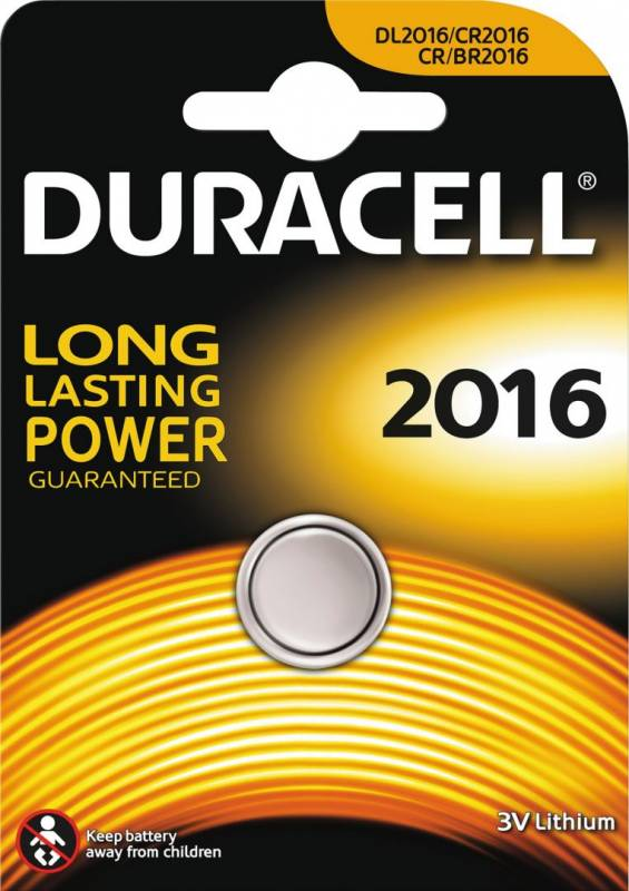 Image of   Batteri Duracell Electronics 2016 1stk/pak