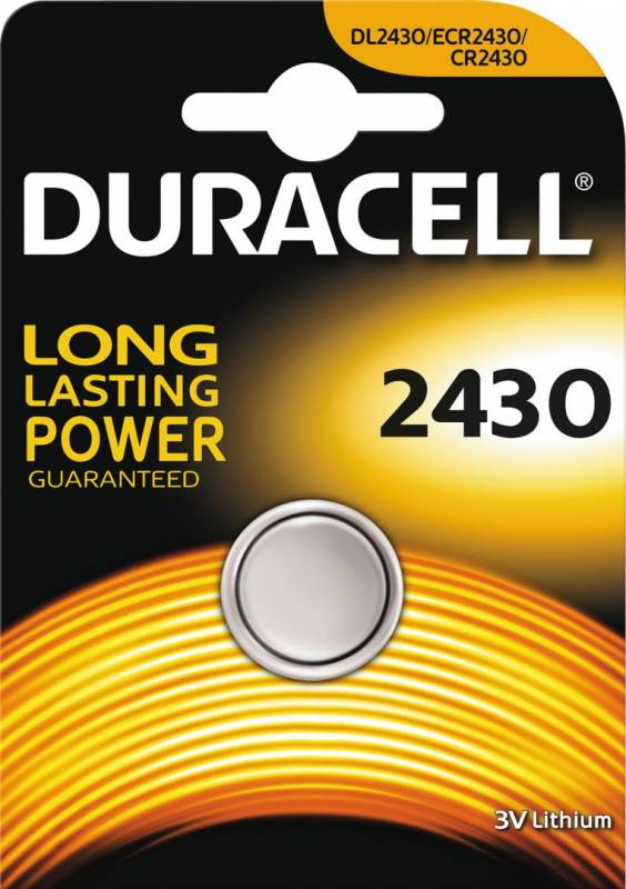 Image of   Batteri Duracell Electronics 2430 1stk/pak