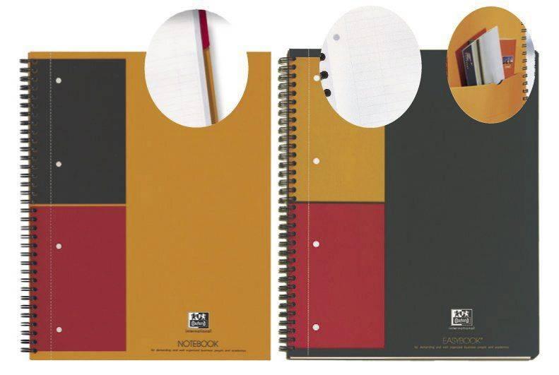 Notesbog Oxford International A4 linieret 80 blade
