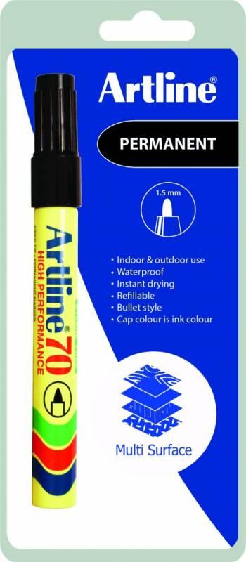 Image of   Markere Artline permanent sort EK70C1 blisterpak