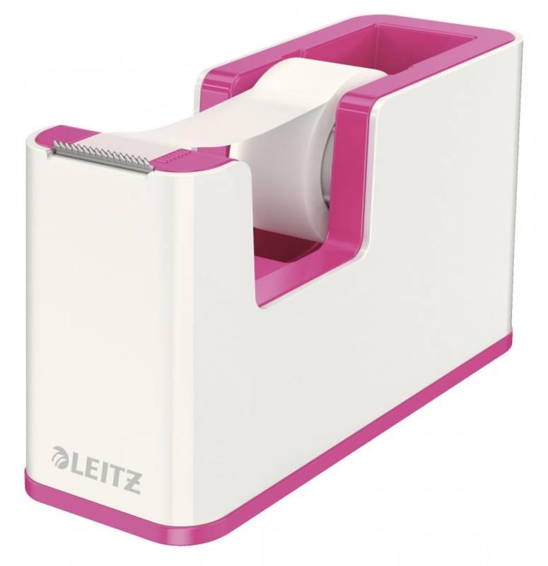 Billede af Tapedispenser Leitz WOW pink incl 1 rulle tape