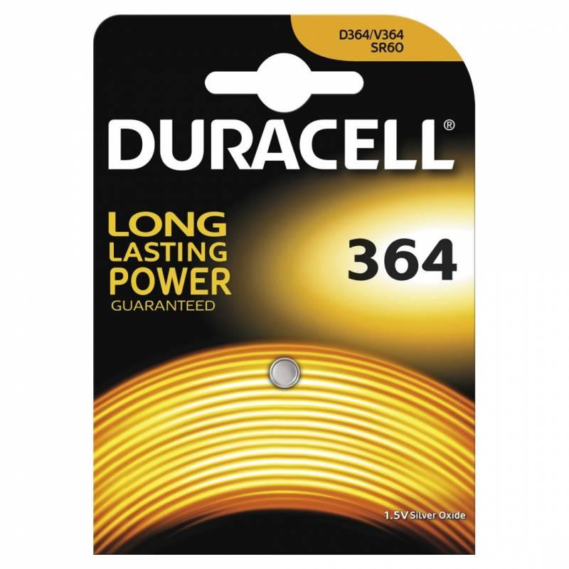 Image of   Batteri Duracell 364 1,5V Silver Oxide 1stk/pak