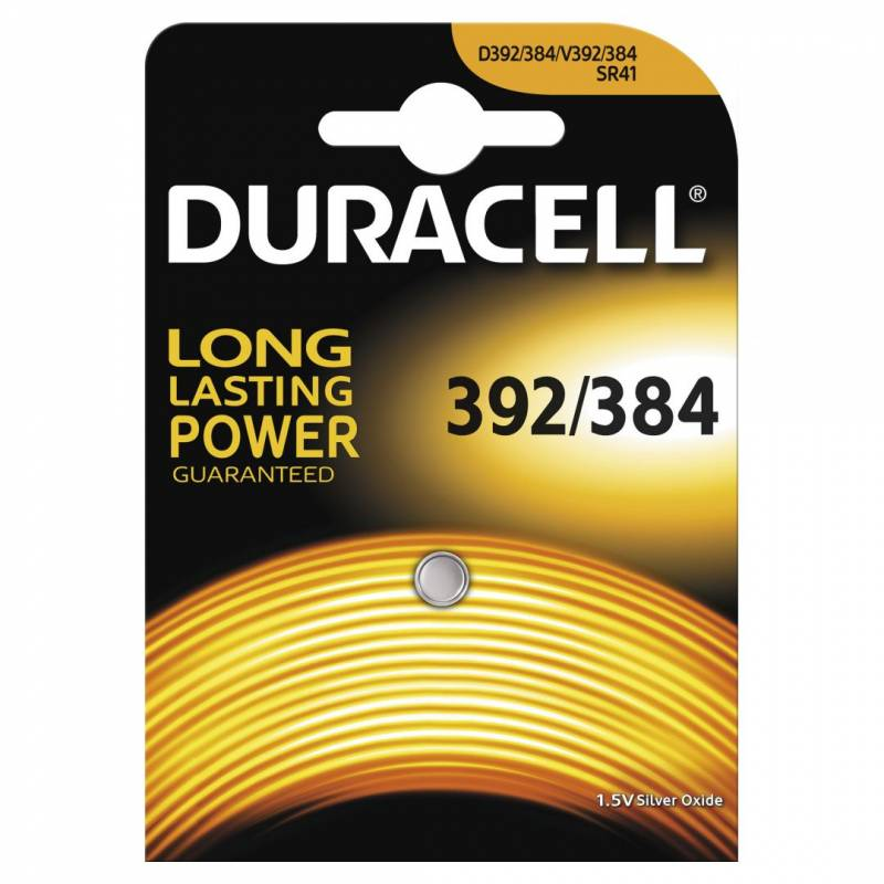 Image of   Batteri Duracell 392/384 1,5V Silver Oxide 1stk/pak