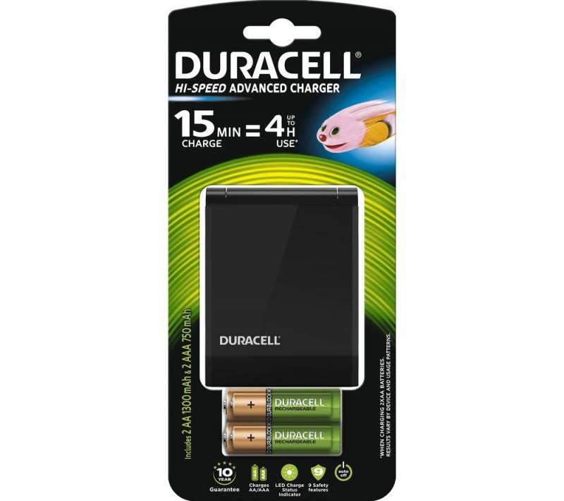 Image of   Batterilader Duracell 15 minutters oplader
