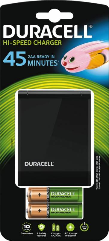 Image of   Batterilader Duracell 45 minutters oplader