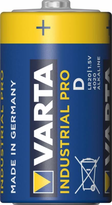 Image of   Batteri Varta Industrial LR 20 D 20stk/pak