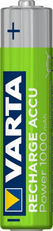 Image of   Batteri Varta genopladelig AAA 1,2V HR3 R2U 1000mAh 4stk/pak