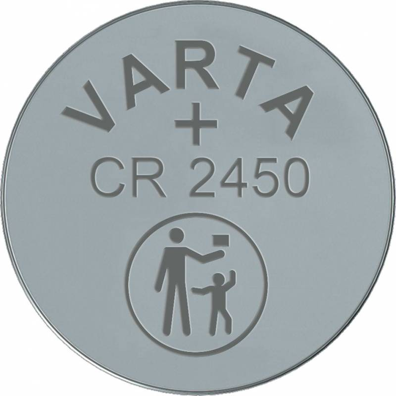 Image of   Batteri Electronic Varta CR2450 3V 560 mAh 1stk/pak