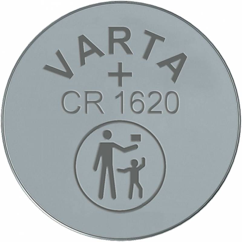 Image of   Batteri Electronic Varta CR1620 3V 60mAh 1stk/pak