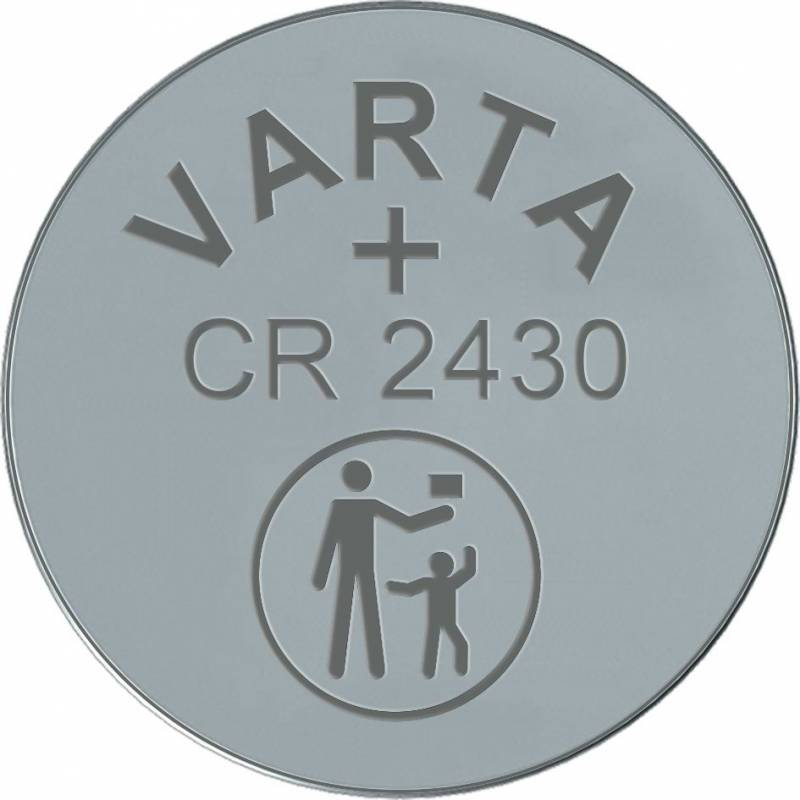 Image of   Batteri Electronic Varta CR2430 3V 280mAh 1stk/pak