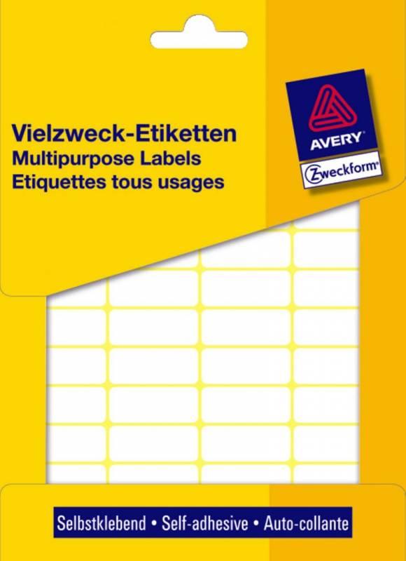Image of   Etiket Avery hvid 38x14mm 3323 928stk/pak ark á 13x16cm