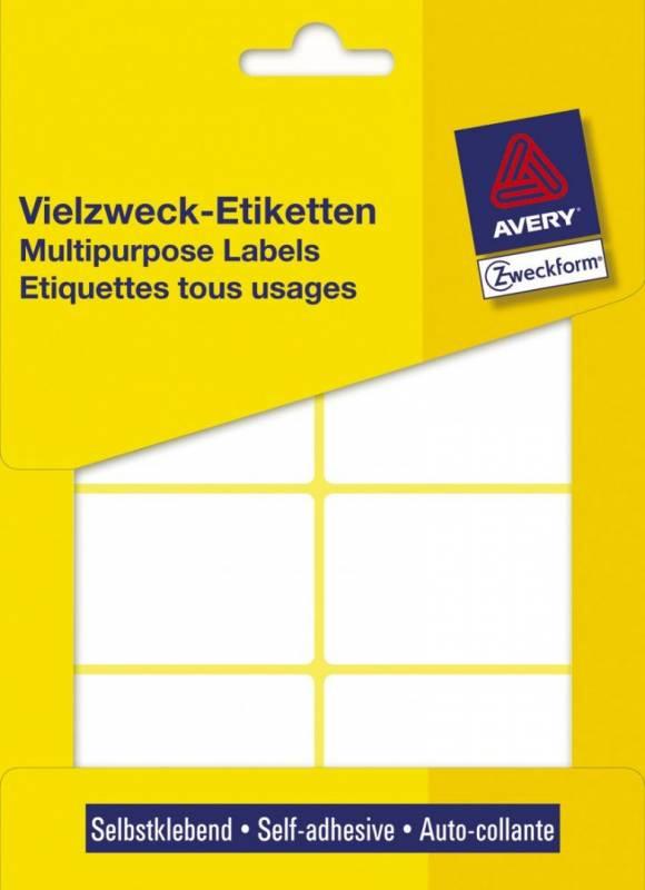 Image of   Etiket Avery hvid 54x35mm 3337 224stk/pak