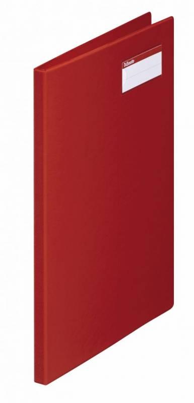 Billede af Klemmapper Esselte rød A4 klar lomme side 2 27343