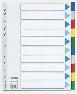 Image of   Faneblade Esselte 10-delt A4 plast Maxi(56106)15267