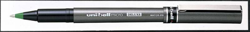 Image of   Rollerpen Uni-ball grøn 0,2mm UB-155 DeLuxe Micro