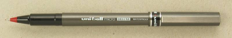 Image of   Rollerpen Uni-ball rød 0,2mm UB-155 DeLuxe Micro