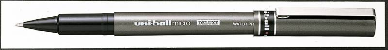 Image of   Rollerpen Uni-ball sort 0,2mm UB-155 DeLuxe Micro