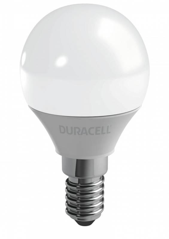 Billede af Pære Duracell Mini 3,4W/25W LED E14 globe frosted 3stk/pak