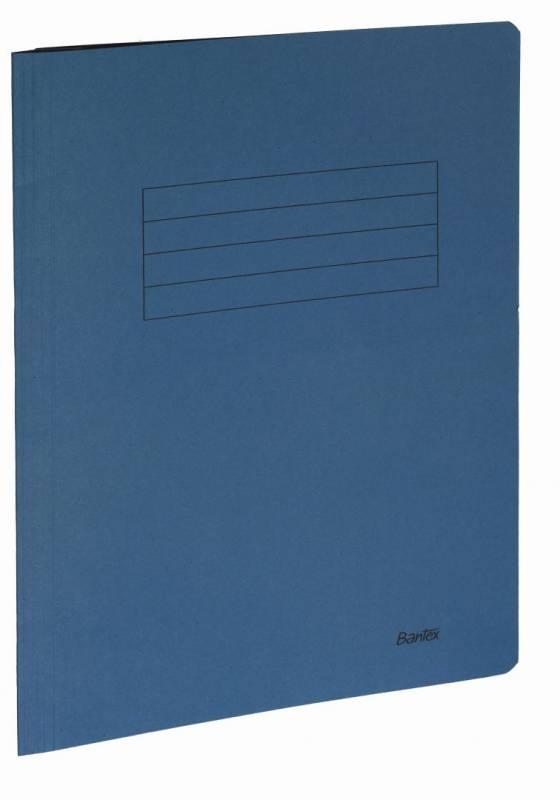 Image of   Arbejdsmappe Bantex blå 318x240mm m/skrivefelt