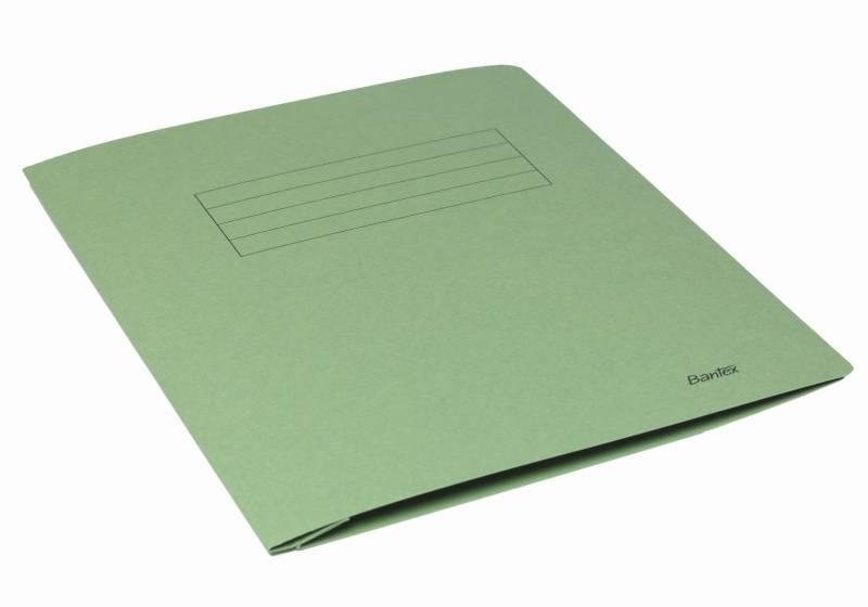 Image of   Arbejdsmappe Bantex grøn 318x240mm m/skrivefelt