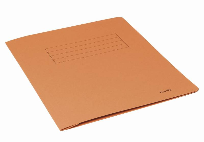 Image of   Arbejdsmappe Bantex orange 318x240mm m/skrivefelt