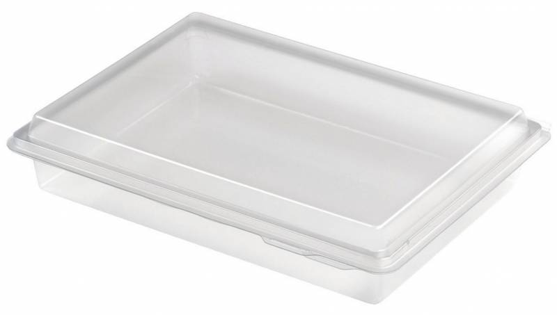 Plastbakke Nibblebox 214x162x40mm 800ml 200stk/ka