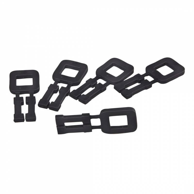 Plasthåndspænder sort til 12mm bånd 1000stk/kar
