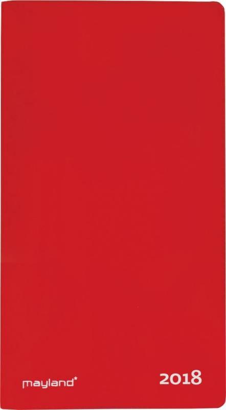Billede af Indexplanner m/telefonreg. 9x17cm rød vinyl 18 0900 10