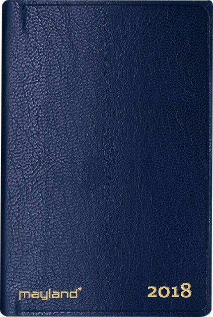 Billede af Lommekalender kunstlæder blå 6x11cm tværformat 18 1620 00