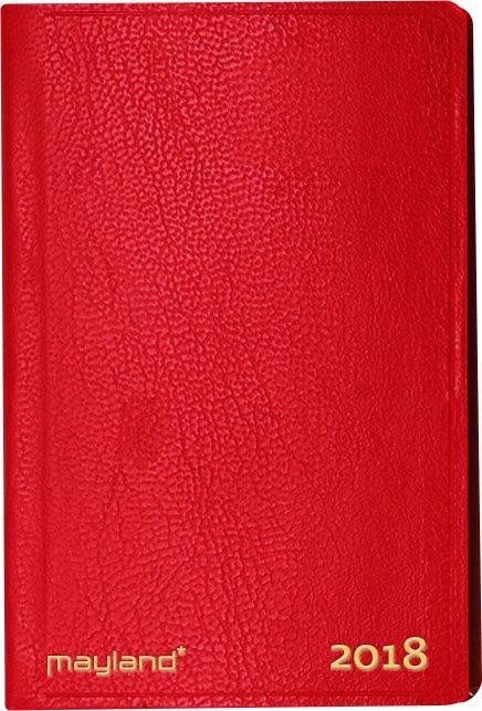 Billede af Lommekalender kunstlæder rød 6x11cm tværformat 18 1620 30