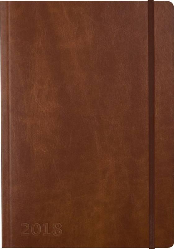 Billede af Ugekalender A5 kunstlæ. brun 15x21cm tværformat 18 2006 10