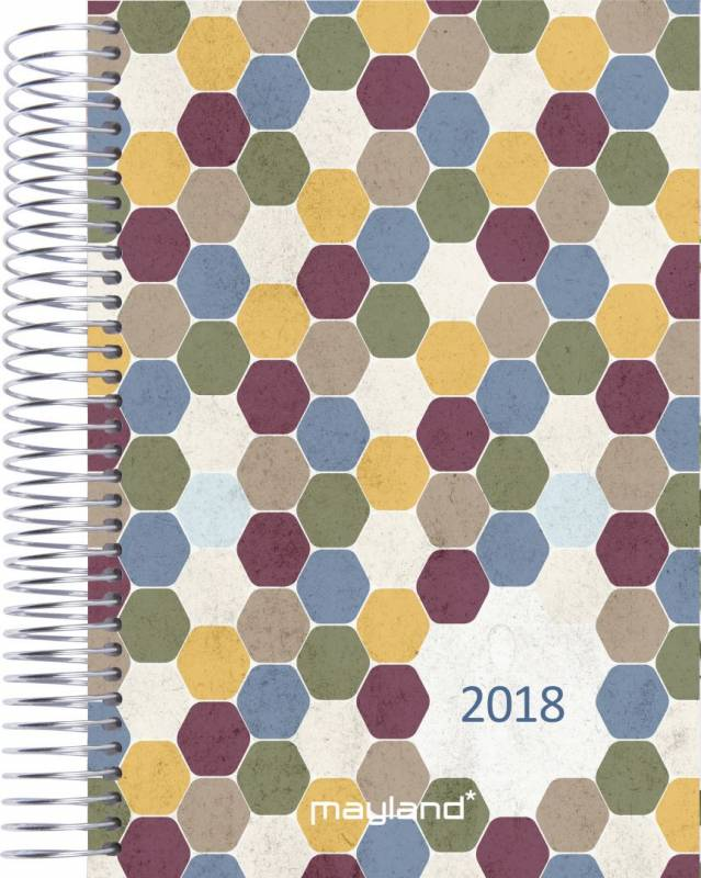 Billede af Timekalender Soft Touch 17x23,5cm 1 dag/side 18 2180 30