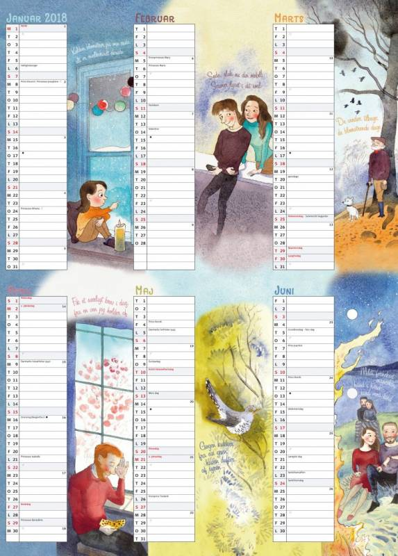 Billede af Vægkalender Familiens 50x70cm 271498