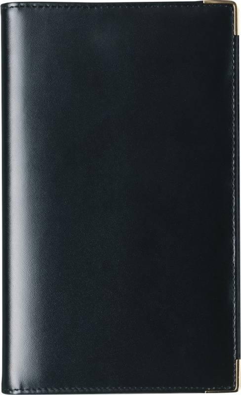 Billede af Weekplanner kunstlæder sort 9,5x17cm højformat 18 0860 00