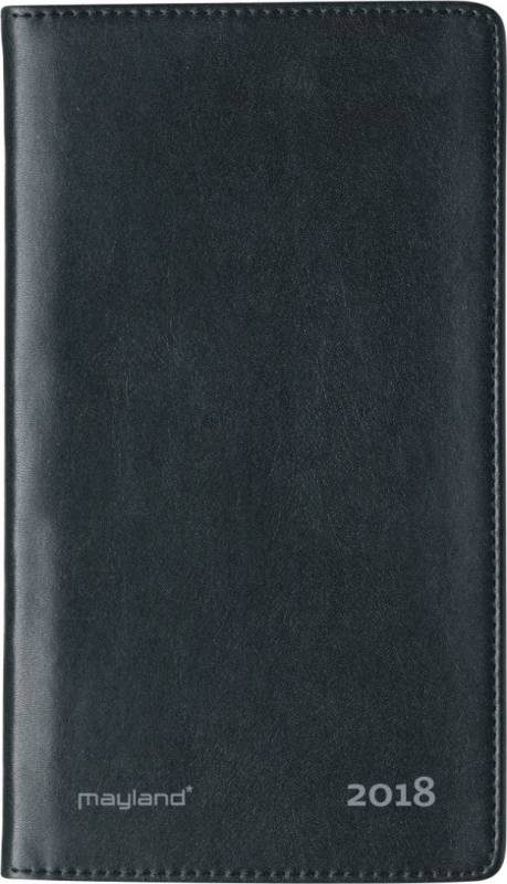 Billede af Weekplanner kunstlæder sort 9,5x17cm højformat 18 1750 00