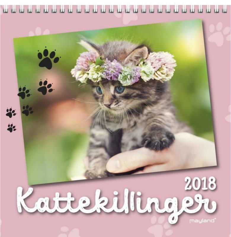Billede af Vægkalender Katte 16x16cm 18 0664 00