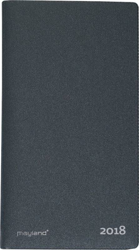 Billede af Indexplanner m/telefonreg. 9x17cm grå vinyl 18 0900 50
