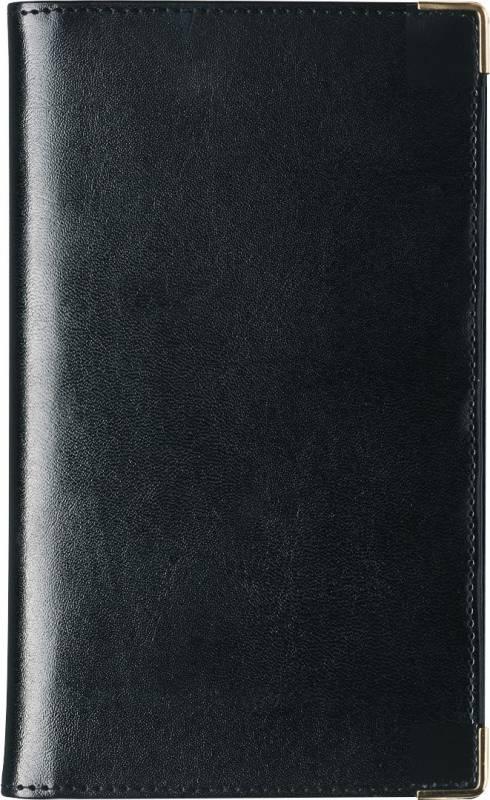 Billede af Weekplanner kunstlæder sort 9,5x17cm tværformat 18 0850 00