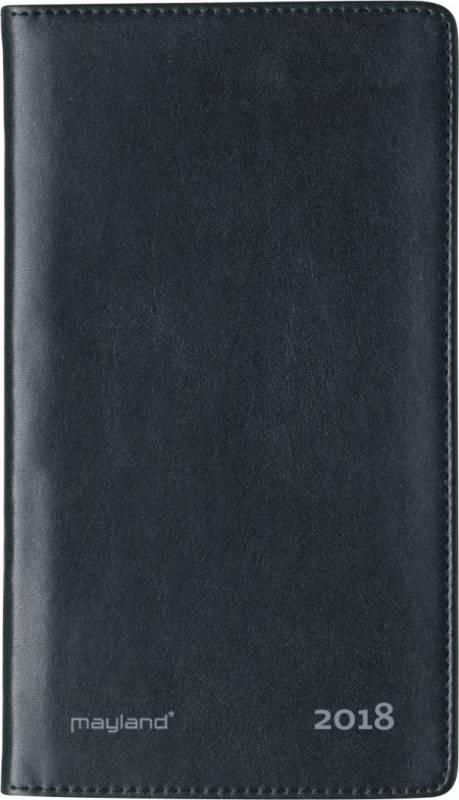 Billede af Weekplanner kunstlæder sort 9,5x17cm tværformat 18 1760 10