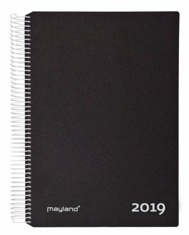 Image of   Timekalender m/spiral sort 17x23,5cm 19 2180 00