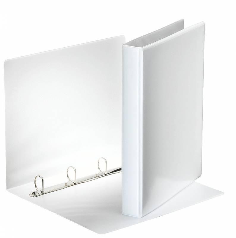 Image of   Hobbymappe Esselte 25mm hvid 4-rings D-mekanisme 49702